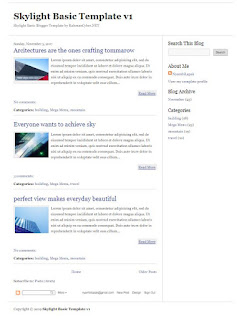 skylight template blog