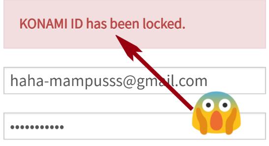 Cara Mudah Atasi Konami ID has Been Locked   Massahal