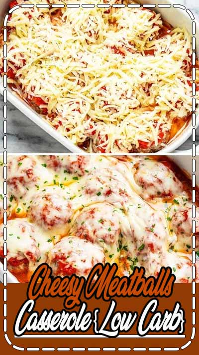 Cheesy Meatballs Casserole – Looking for a great low carb dinner option? This low carb meatballs casserole recipe is absolutely fabulous. It's a clear winner with the whole family!