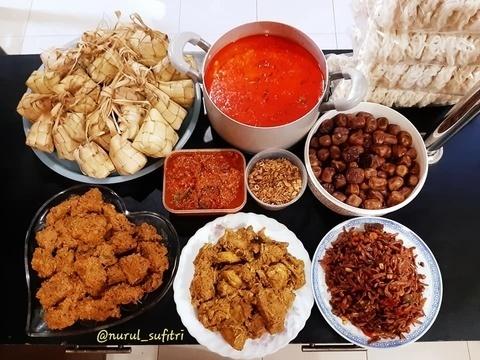 masakan lebaran yang klasik dan nikmat disantap nurul sufitri travel lifestyle blogger kuliner resep rendang ayam kari sambal goreng kentang resep