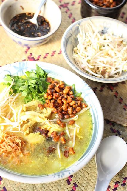 soupe poulet riz indonésie