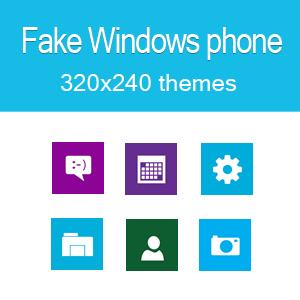 Fake windows phone theme C3-00 320x240 s406th