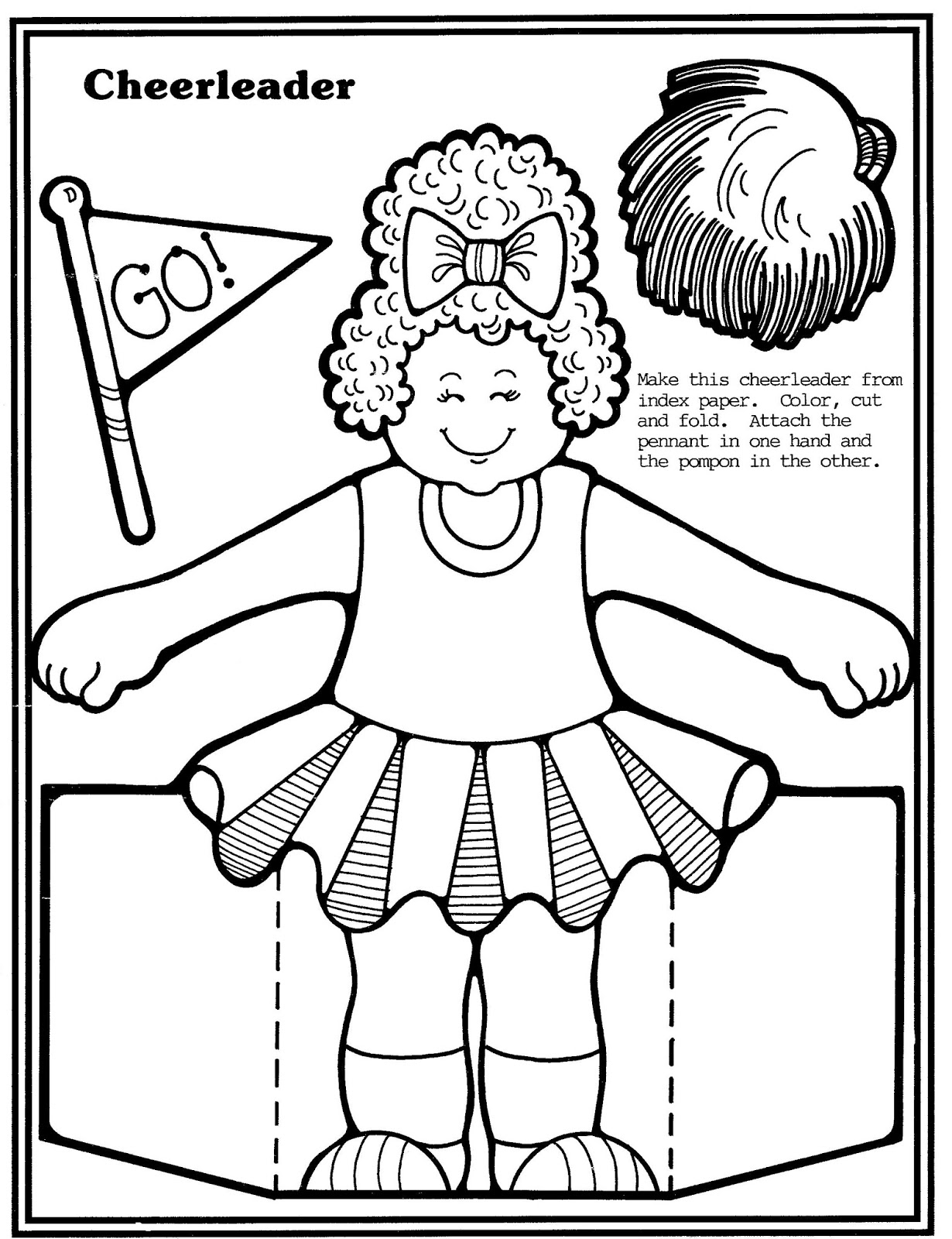 Mostly Paper Dolls Too!: Football Player and Cheerleader