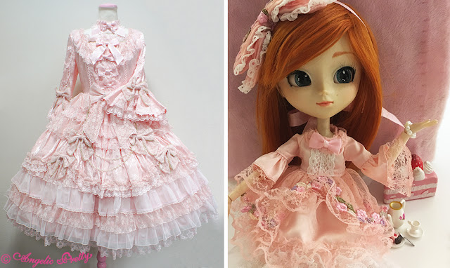 comparação entre vestido hime lolita e vestido de boneca nesse estilo