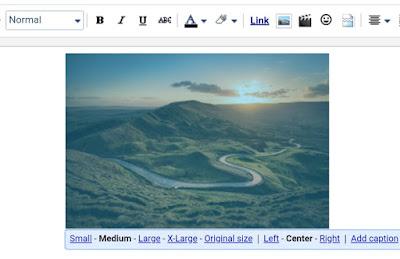 Resize images on Blogger