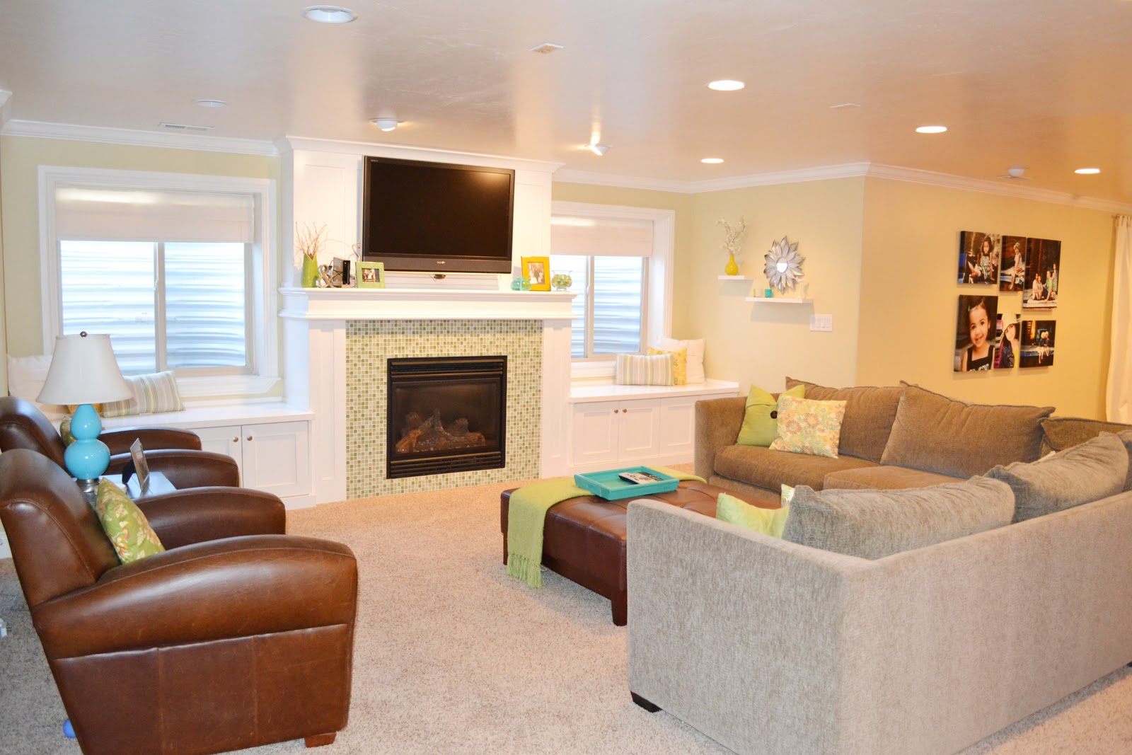Sita Montgomery Interiors: My Home Tour: Basement Family Room