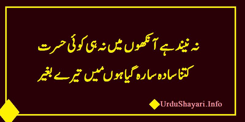 Good night Poetry in urdu - 2 lines Shayari