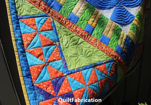 Fiesta Garden quilting by QuiltFabrication
