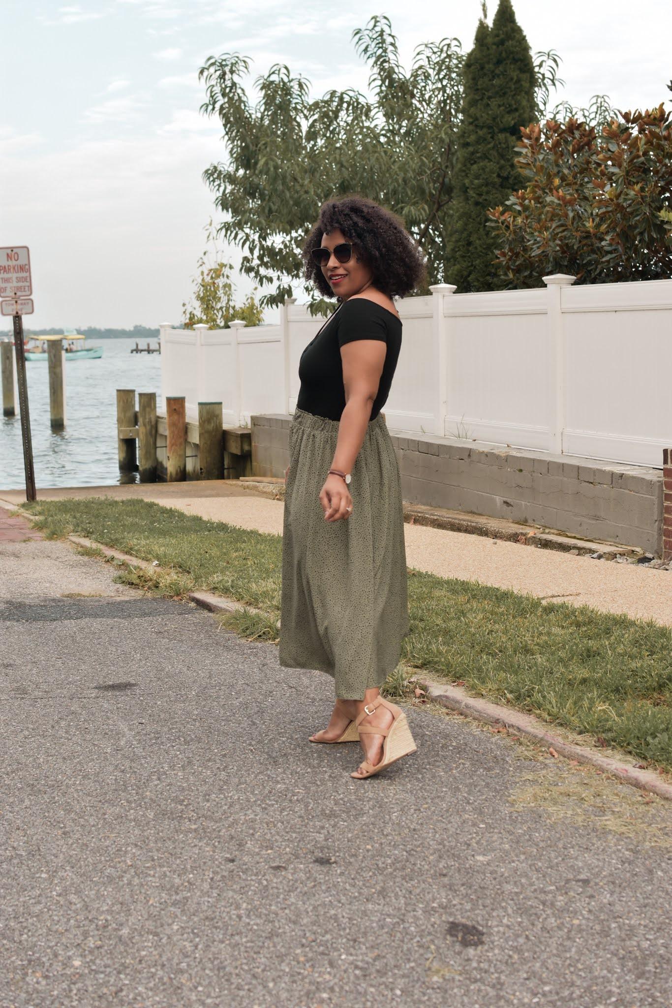 OOTD: Flared Midi Skirt