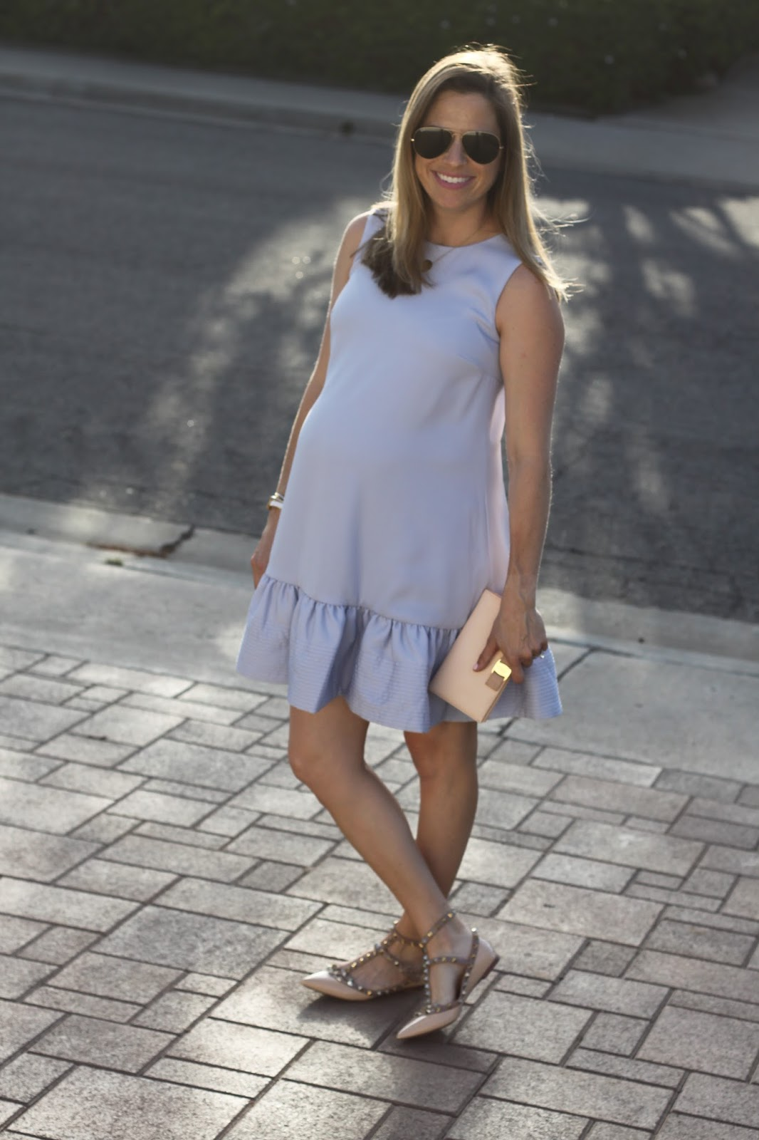 ruffle dress and rockstuds