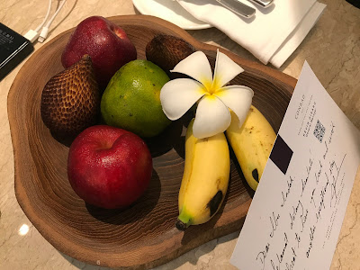 fresh fruit in your room at Conrad Bali Hotel, Benoa, Bali, Indonesia