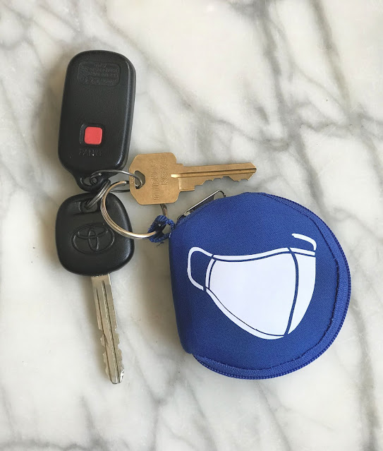 face mask keychain holder