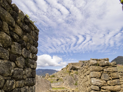 Machu Picchu picture gallery: Ribbons of white fluffy clouds over Machu Picchu