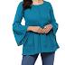 Yash Gallery Women's/Girls Cotton Slub Solid Top (Green)