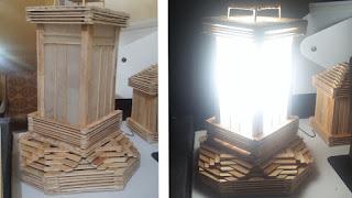 Membuat Lampu Tidur Dari Stik Es Krim
