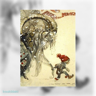 John Bauer - Christmas card from 1917