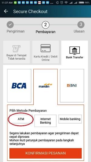 bayar belanjaan Lazada di ATM Mandiri