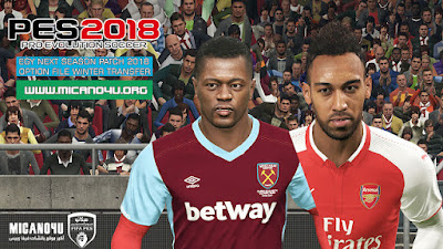 PES 2018 Next Season Patch 2017/2018 Option File Update Winter Transfers