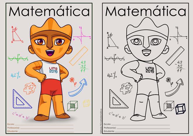 Capinha de caderno - Tema dos Jogos Pan-Americanos 2019 em Lima