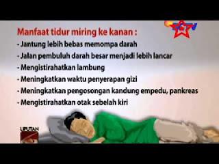 manfaat tidur miring sunnah Rasulullaah SAW