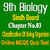 9th Biology Unit 3 Classification Of Living Organism MCQs Sindh Board