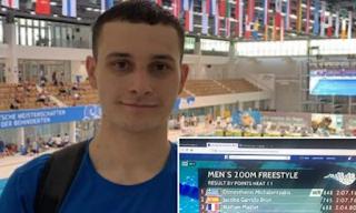 Παγκόσμιο ρεκόρ από τον «χρυσό» Παραολυμπιονίκη κολύμβησης του Ρίο, Δημοσθένη Μιχαλεντζάκη