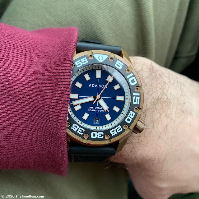 Advisor SUPA Diver bronze blue