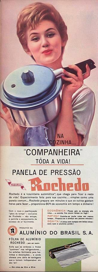Propaganda antiga da Panela de Pressão da Rochedo veiculada em 1962