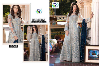 R9 Designer Humera Embroidery pakistani Suits