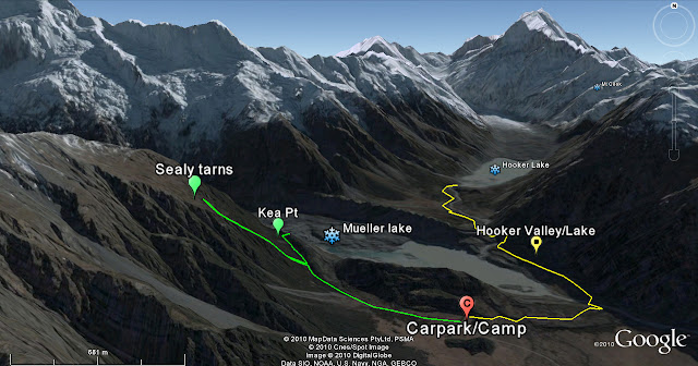 New Zealand Mount Cook National Park map