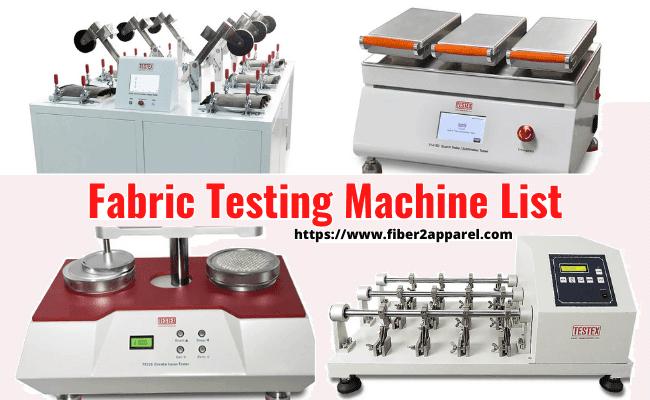 Fabric testing machine list