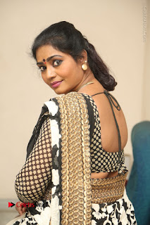 Telugu Actress Jayavani Jayavani Stills in Black Saree at Intlo Deyyam Nakem Bhayam Success Meet  0071.JPG