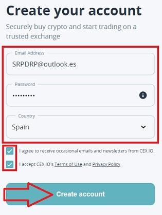 Registro en CEX.IO Para comprar Bitcoin