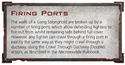 reglas Fortaleza para bandas Necromunda