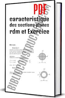 caracteristique des sections planes rdm et Exercice pdf