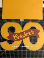 #CTMHVandra, Cricut Design Space, cricut, Birthday, birthday card, celebrate, blue belle, banner, Colour dare, double trouble,
