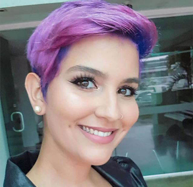 short purple hair color