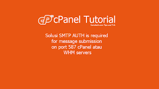 Solusi SMTP AUTH is required for message submission on port 587 cPanel atau WHM servers