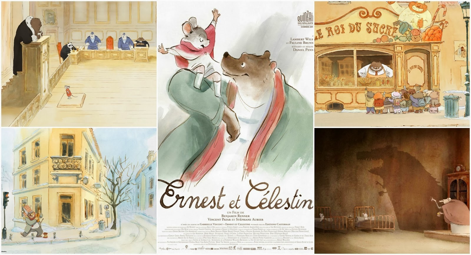 Animated Film Reviews Ernest Celestine 2013 Mice And Bears Living Together