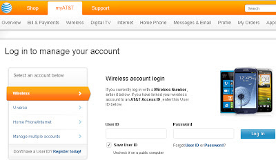 View My ATT Wireless Account