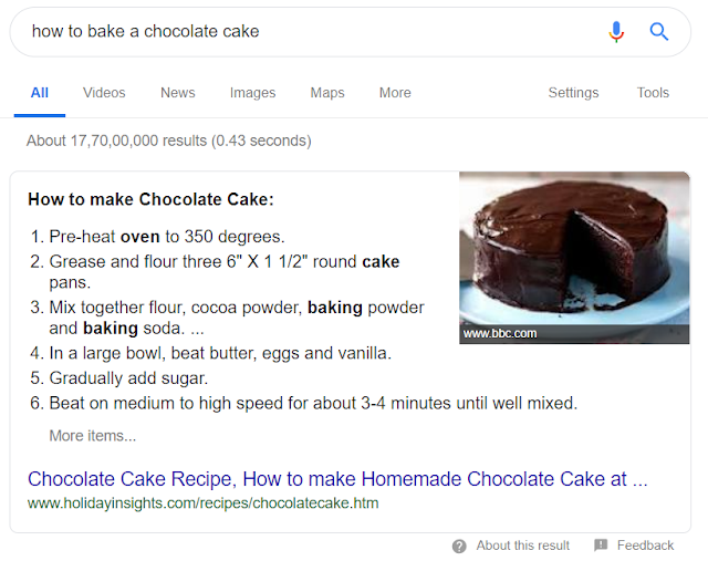Google featured snippet 2