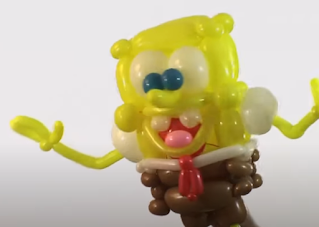 SpongeBob als Ballonfigur zur Ballondekoration.