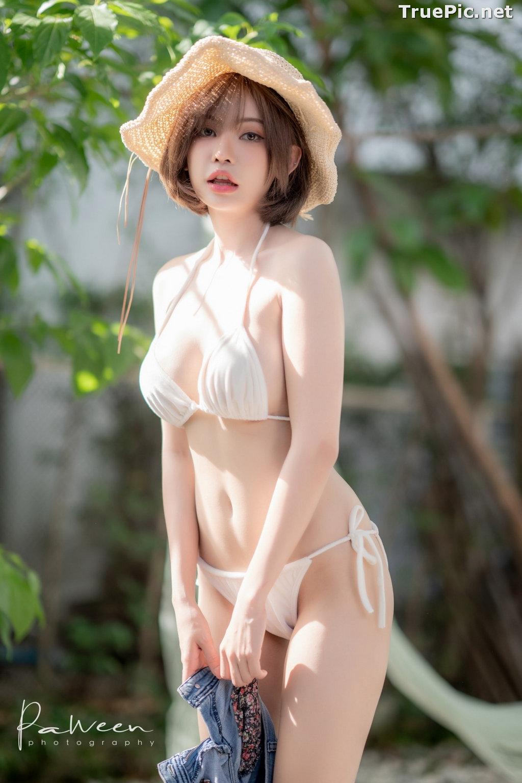 Image Thailand Model - Sutasinee Nokia Sirirak - White Sexy Bikini - TruePic.net - Picture-5