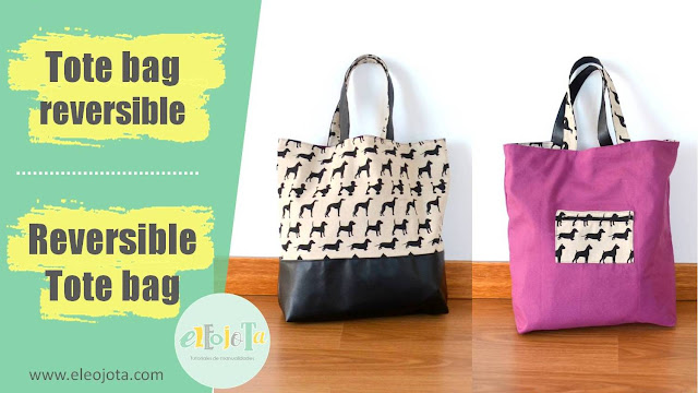 tutorial bolso tote bag reversible