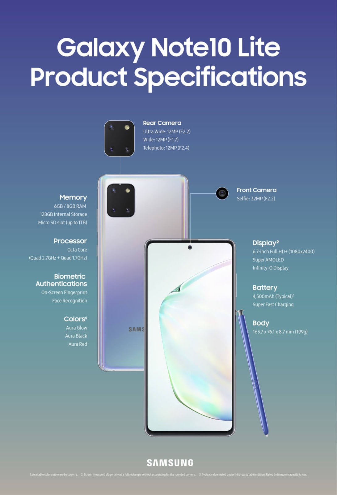سامسونج تعلن رسميا عن هاتفي Galaxy Note 10 Lite و Galaxy S10 Lite
