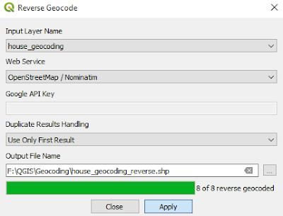QGIS reverse geocoding