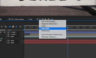 Fast Draft di After Effects