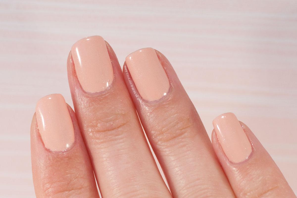Pink Gellac Love Affair Collection swatches - 322 Sparkle Peach