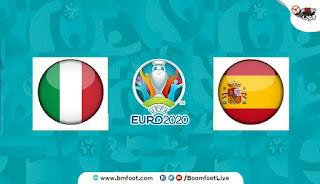 مباراة ايطاليا و اسبانيا بث مباشر