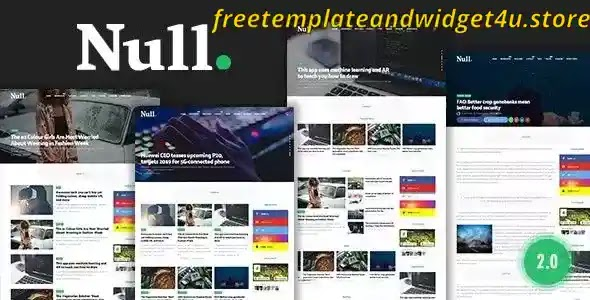 Null Magazine Blogger Template Free Download